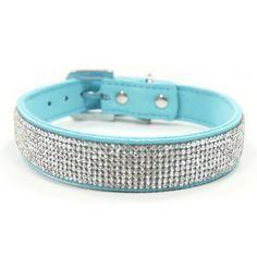 VIP Bling Dog Collar :: Blue http://www.ilovemyk9.co.uk/