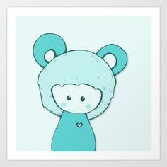 Teddy Bear Art Print by Wumi Studio. Worldwide shipping available at Society6.com. Just one of millions of high quality products available.