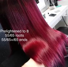 Wella red toner formula - Leyla - Make-Up Hair Color 2017, Hair Color Guide, Hair Color Formulas, Red Burgundy Hair Color, Burgendy Hair, Hair Foils, Hair Color Techniques, Brunette Color, Haircut And Color