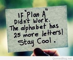 Plans don't always work out as they should. It's ok, just stay cool.