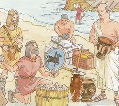Primer contacto entre los íberos y los comerciantes griegos. S. VIII a. C.