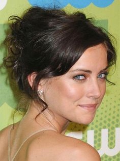 I heart Jessica Stroup Jessica Stroup, Easy Updos For Medium Hair, Updos For Medium Length Hair, Short Hair Updo, Messy Updo, Wavy Updo, Messy Buns, Easy Hair, Easy Updo Hairstyles