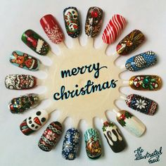 for this years 25 days of xmas nails on the blog