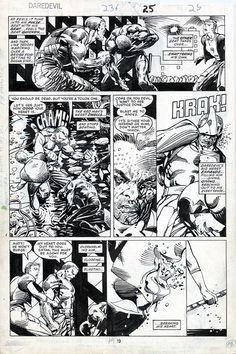 Daredevil 236 page 25 - Barry Windsor Smith Comic Art