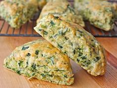 The BakerMama shares a savory scone recipe that's loaded with spinach, artichokes and cheese. They taste just like a fresh chunk of bread that's been dipped in some cheesy spinach artichoke dip.