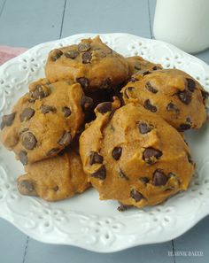 Pumpkin chocolate chip cookies!  Made these last night and they turned out amazing!! So soft!