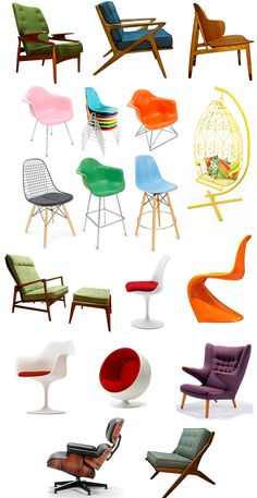 Oh So Lovely Vintage: Our retro chair wishlist.