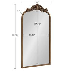 Kate and Laurel Medium Arch Gold Classic Mirror (30.75 in. H x 19 in. W)-217036 - The Home Depot Traditional Mirrors, Traditional House, Traditional Design, Gold Frame Wall, Frames On Wall, Framed Wall, Arch Mirror, Wall Mirror, Mirror Shapes