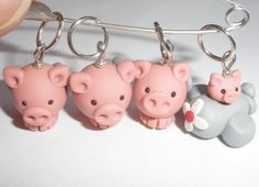 #stitch #markers #polymer #clay #pigs