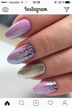 Nails Sencillas Primavera Pies Ideas For 2019 Black Nail Designs, Nail Art Designs, Nails Factory, Funky Nails, Trendy Nail Art, Chrome Nails, Super Nails, Purple Nails, Pink Nail