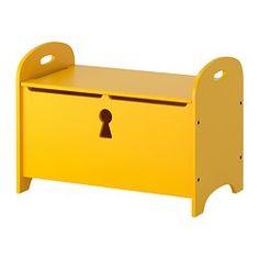 TROGEN bank met bergruimte, geel Breedte: 70 cm Diepte: 39 cm Hoogte: 50 cm
