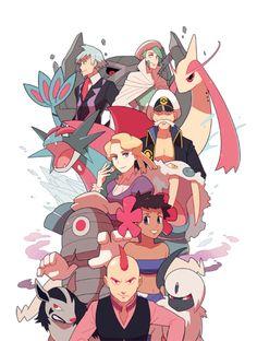 Hoenn Elite 4 and champion Pokemon Rosa, Pokemon 20, Nintendo Pokemon, Pokemon Comics, Pokemon Fan Art, Pokemon Cards, Pokemon Stuff, Pokemon Images, Pokemon Team