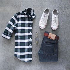 Check Again.  Follow @capsulewardrobemen for more. . . . #mensfashion #outfitgrid #flatlay #vscogrid