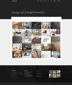 Made with interior designers and architects in mind, Ambient is remarkable WordPress theme packed with everything you will ever need to create an outstanding website with ease. Print Design, Web Design, Layout Design, Color Harmony, Living Styles, Concept Home, Office Interiors, Modern Interior Design, Change The World