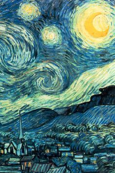 Van Gough. Starry Night, I decorated my entire master bed room to match the print i had of this ... LOVE!
