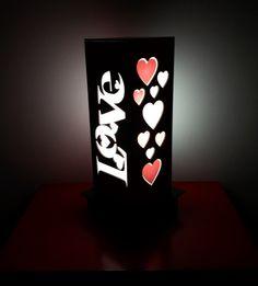 Luminária de Mesa ideal para presentear aquela pessoa querida!!! www.elo7.com.br/decorachados