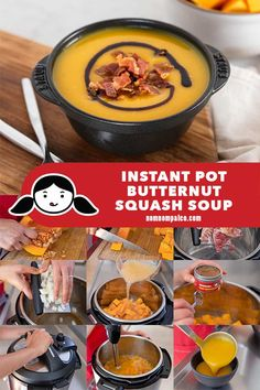 butternut squash soup Got an Instant Pot and looking for a cozy paleo soup recipe thats perfect for fall and winter? This Instant Pot Butternut Squash Soup is super easy to make, Fall Dessert Recipes, Great Desserts, Paleo Dessert, Autumn Desserts, Winter Recipes, Dessert Ideas, Paleo Recipes, Soup Recipes, Paleo Meals
