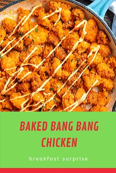 Baked Bang Bang Chicken is a crispy chicken Chinese restaurant favorite served in a delicious spicy homemade sauce, ready in 30 minutes. We love healthy Chinese recipes like our Skinny Kung Pao Chicken, Skinny Sesame Chicken and Skinny Moo Shu Pork. Relish Recipes, Carrot Recipes, Bacon Recipes, Appetizer Recipes, Escarole Recipes, Argula Recipes, Fennel Recipes, Sesame Chicken