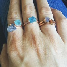 Whoa ! some new rings. #rings #pnwfashion #fashion #seattlejewelry #jewelry #crystalrings #create #crystals #crystallove #obsessed #colors #riojeweler #lb_jewelry #leiabeila