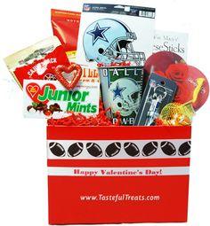Dallas Cowboys Valentine's Day Gift Basket $44.99 Valentine's Day Gift Baskets, Dallas Cowboys, Valentine