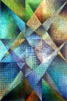 Cubist Golden Section painting - Art for sale.