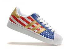 Adidas Superstar 2 American Flag Shoes