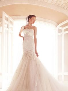 one shoulder mermaid designer wedding dress