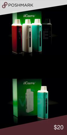 eLeaf i Care Kit Cyan 15w iCare Product Introduction: The iCare is a compact e-cigarette starter kit with an internal tank and airflow system. It is quite simple to use for the automatic On/Off feature that initiates when vaping. The e-liquid can be refilled into the tank from top with ease. three color LEDs, you can easily check the battery status by a simple glance at the color of the light.  Kit  Includes 1 x iCare Mini Mod 1 x iCare Mini PCC 2 x IC 1.1ohm Coil Heads 1 x User Manual 1 x…