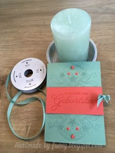 Handmade by Fanny Up, Candle Holders, Blog, Material, Happy Birthday, Candles, Glass, Handmade, Paper
