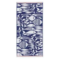 Buy John Lewis Shoal of Fish Guest Towel, Navy Online at johnlewis.com