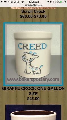Baby giraffe crock