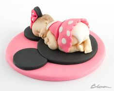 Minnie Mouse Baby Topper Minnie Cake Topper Baby by WorldByGabi