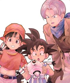 Pan, Goku, Trunks