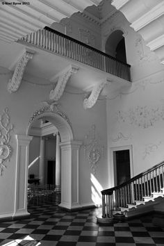 The Staircase Hall, Castletown House, Celbridge, County Kildare, Ireland. Built between 1722 - 1727 for William Connolly, speaker of Irish house of Commons Copyright: Noel Byrne