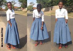 Sishweshwe #MaxiSkirt#SheStyles#SouthAfricanFashion