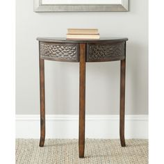 Safavieh Earl Dark Brown Console Table | Overstock.com Shopping - Great Deals on Safavieh Coffee, Sofa & End Tables