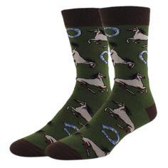 Funny Men Unicorn Horse Long Socks Novelty Cute Navy Blue Horse Rainbow Unisex Sock For Wedding Boyfriend Gift Superior In Quality
