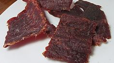Spicy Beef Jerky in the Smoker 1 pound flank steak (skirt steak in the south) 1/2 cup Worcestershire sauce 1/2 cup soy sauce 1/4 cup honey 1 teaspoon garlic powder 1 teaspoon onion powder 2 teaspoons dried ground cayenne pepper 2 teaspoons fresh ground black pepper