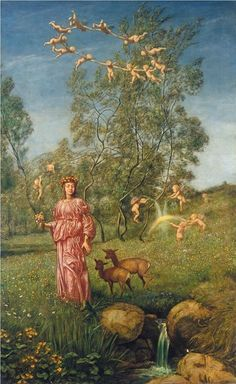 Hans Thoma - An allegory of springtime.