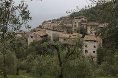 Ruin Village Campo at Lago di Garda, Italia