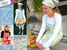 French Country Apron & Headscarf | Sew4Home