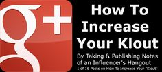 Add Value By Covering A Google+ Power User's Hangout And Gain Influence (Part 1 of 2)    1) If you want to increase your Google+ influence by adding value to hangouts then this post will interest you.     2) If you want to add value to your hangout then this post will interest you.    Today I will share with you why long hangouts with influencers gives you an opportunity to --also - gain more influence....  Expand this post »
