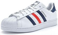 Adidas Originals Superstar Foundation White Navy Red Mens Casual Shoes S79208  #Adidas #Originals