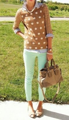 Southern Curls & Pearls: Mint Jeans: From Summer to Fall