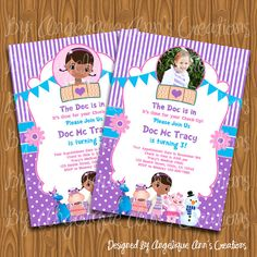 Hey, I found this really awesome Etsy listing at https://www.etsy.com/listing/125982736/doc-mcstuffins-invitations-diy-printable