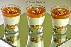 Bicchierini gorgonzola, pere e noci