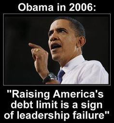 AND THEN....OBAMA raised the debt limit.                         Obama to attack Ryan budget as effort to 'Impose a radical vision'.