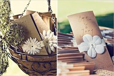wedding programs... and other cute rustic wedding ideas
