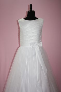 Organza, Satin and Tulle Communion Dress from Silk n Satin Communion Dresses. Style: Ella-135/ $75.