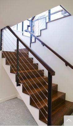 Modern stair rail.